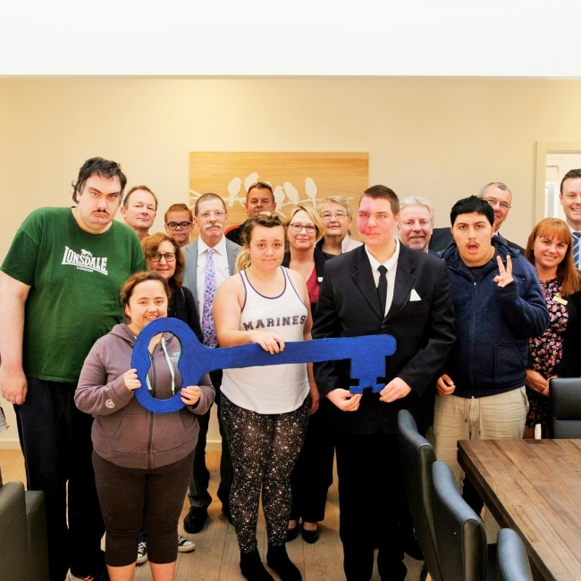 Photo taken at the official opening of the shared supported disability accommodation.